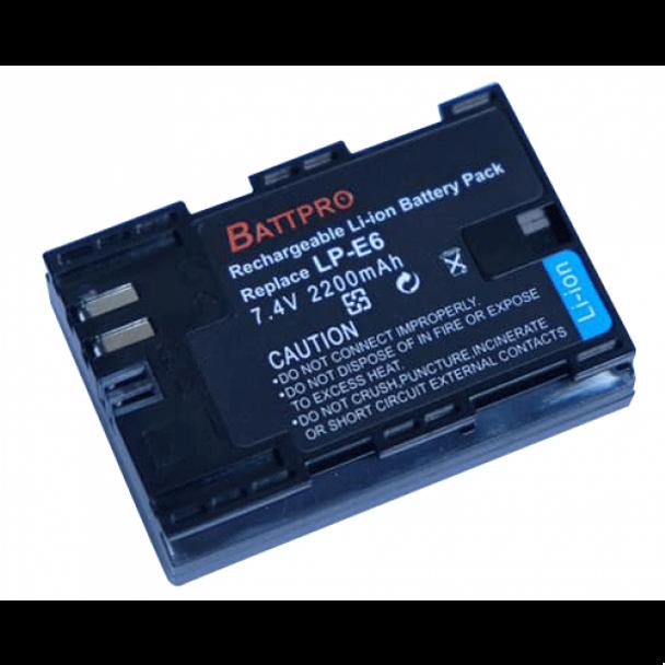 Battpro LP-E6 Battery for Canon EOS R 5D 6D 7D 80D