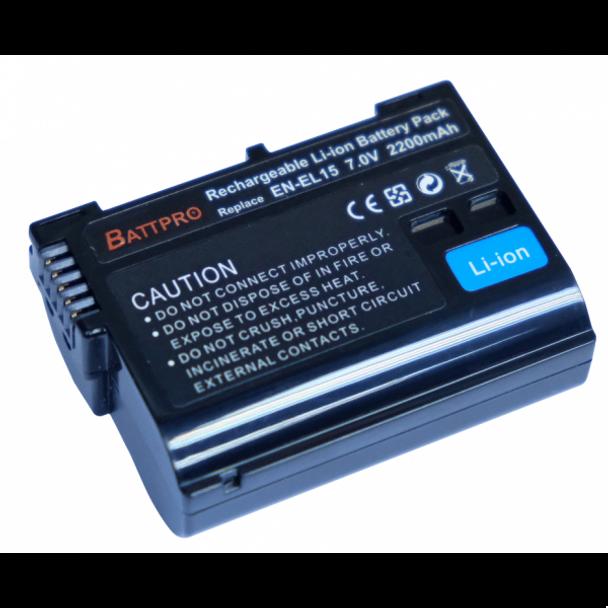 Battpro EN-EL15 Battery for Nikon Z6 Z7 D850 D810 D800 D750 D7500