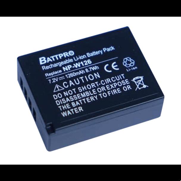 Battpro NP-W126 Battery for Fujifilm X-T3 X-T2 X-T1 X-T20 X-T10 X-T100
