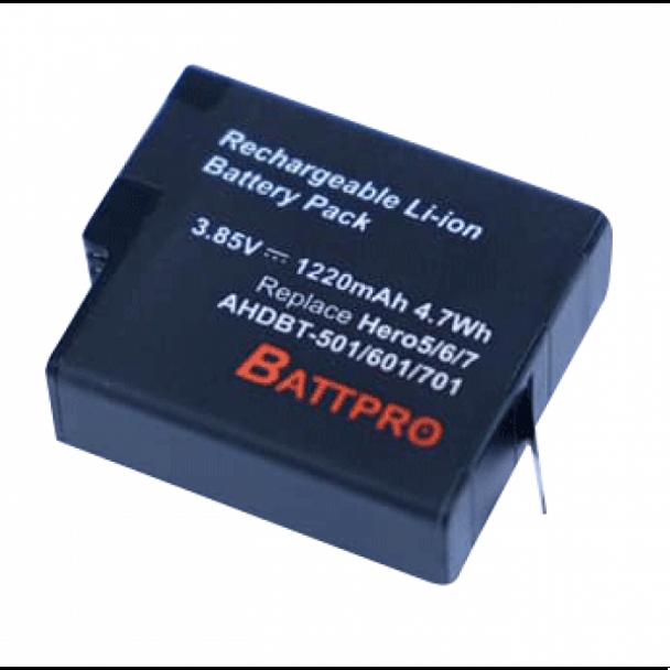 Battpro Gopro Hero 5/6/7/8 Battery 代用電池