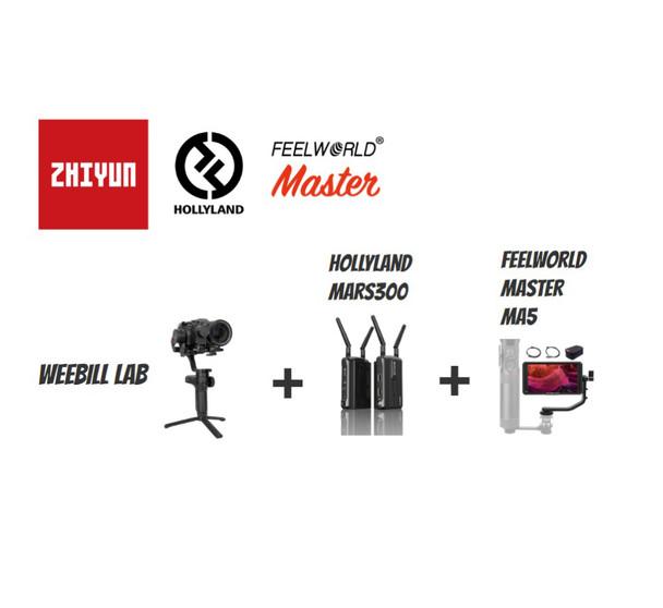Zhiyun 智雲 WeeBill + HollyLand 無線圖傳 + Feelworld 顯示器套裝