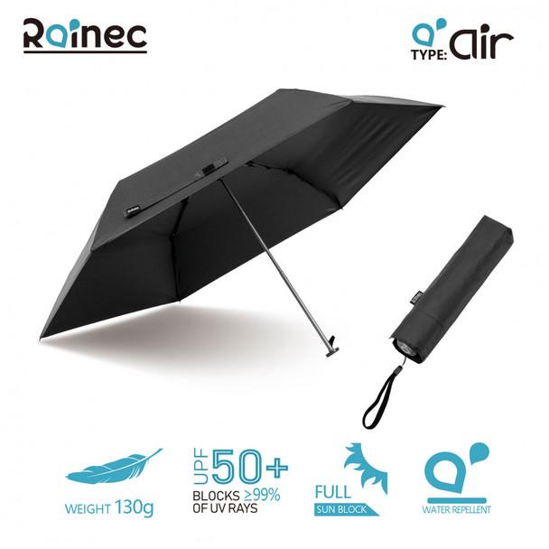 Rainec air 超輕不透光潑水摺傘 (石墨黑)