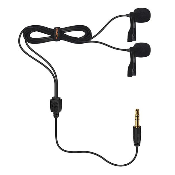 Comica CVM-D02 Dual-head Lavalier Microphone 6M 多用雙頭夾咪呔咪