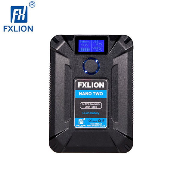 FXLion Nano Two 98Wh V-mount 連USB TypeC QC3.0 PD V接口鋰電池