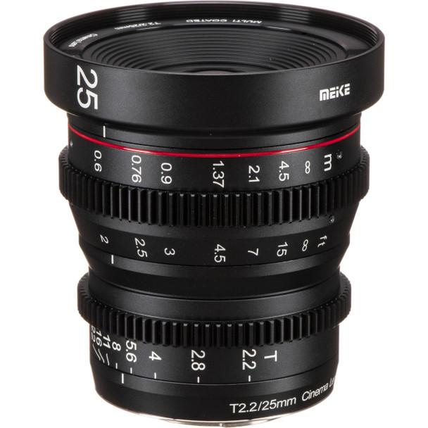 Meike 美科 MK-25mm T2.2 Manual Focus Cinema Lens 電影鏡頭 For Sony E-mount