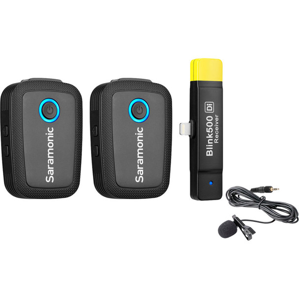 Saramonic Blink500 B4 2.4Ghz 一對二無線單反領夾咪 For Apple Lightning
