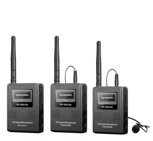 Saramonic SR-WM2100  2.4G Wireless Lavalier Microphone 一對二無線單反領夾咪