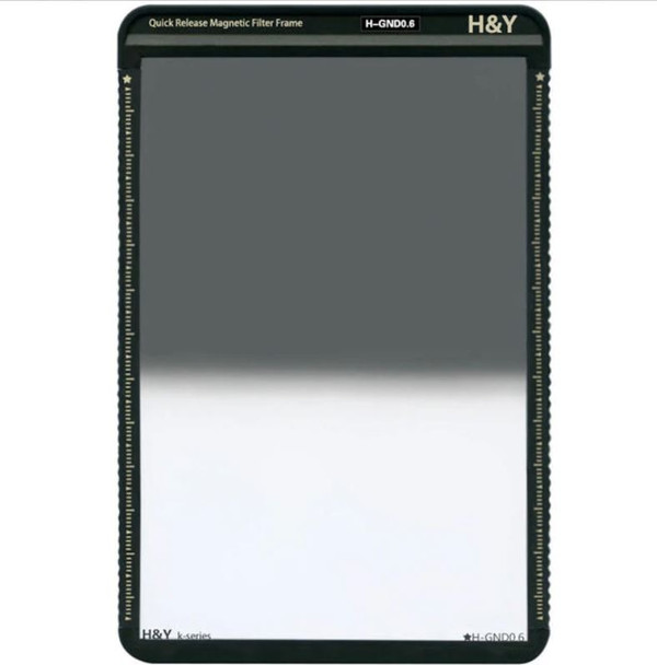 H&Y K-Series Hard GND16 / 1.2 / 4-Stops 100x150mm with Frame 漸變灰濾鏡連框架