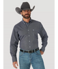 MEN'S WRANGLER® 20X® COMPETITION PERFORMANCE LONG SLEEVE BUTTON DOWN PRINT SHIRT IN NAVY
