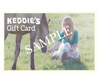 Keddie's Gift Card - Woman & Horse Design (Sample Front)