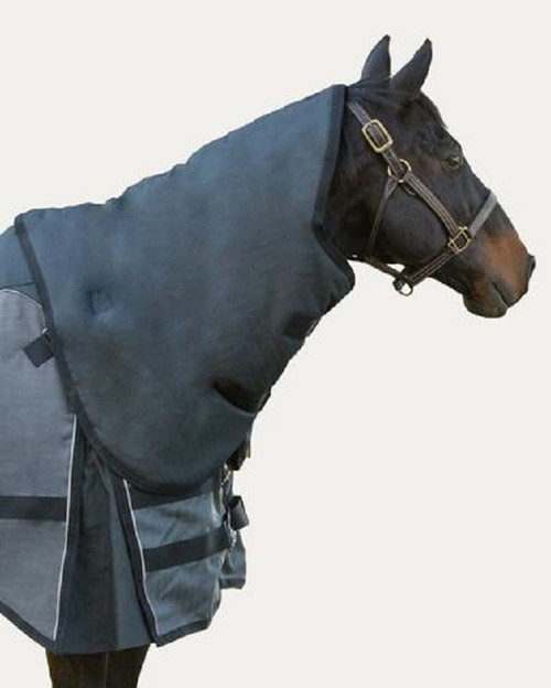 Guardsman Blanket Removable Neck Cover (Shown in Granite Colour) - On horse with blanket