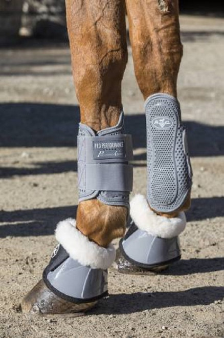 Professionals Choice Horse Spartan Ballistic Bell Boots w// Fleece Royal Blue