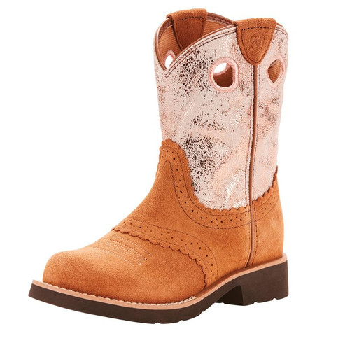 Ariat Girl's Fatbaby Pink Round Toe Western Boots