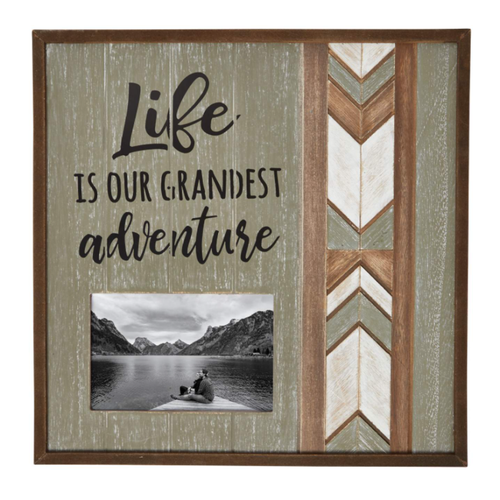 Carson Home Accents 'Life is Our Grandest Adventure' Hanging Photo Frame