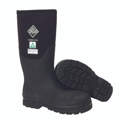 Muck CSA Approved Chore Steel Toe Boots with Fleece (Black)