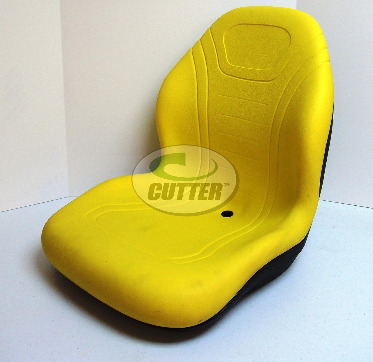 New - Yellow High Back Seat - Fits John Deere