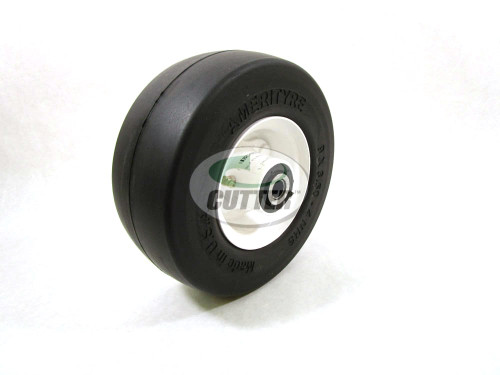 New - 9x3.50-4 Smooth Flat Free Tire & Wheel ASM - Fits Lastec