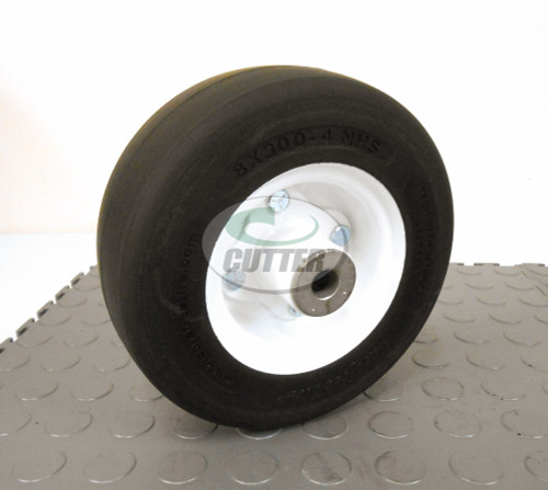 "New - Flat Free 8"" Smooth Tire & Wheel ASM - Fits Toro"