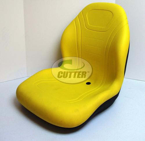 Yellow High Back Seat - Fits John Deere