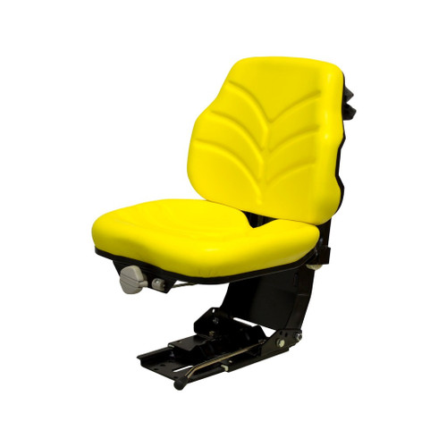 New Utility Suspension Seat Assembly Yellow 14012
