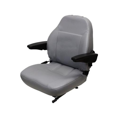 New Uni Pro Seat Assembly w/Armrests Grey
