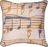Music Stanzas I Throw Pillow by Manual Woodworkers and Weavers