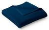 Biederlack Uno Cotton Solid Blue Dunkelblau Blanket