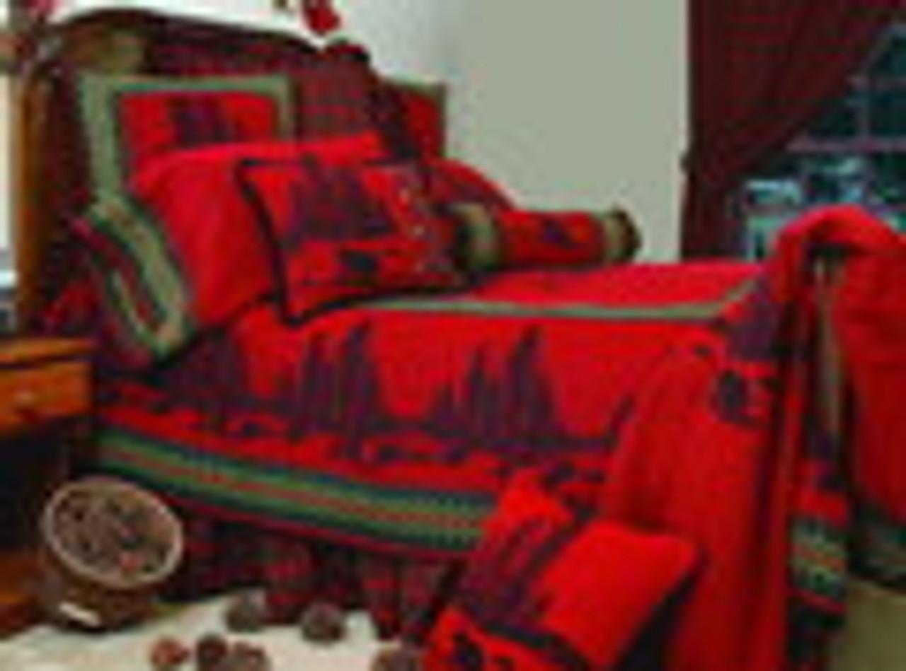 Wooded River Bear Bedspread Ensemble
