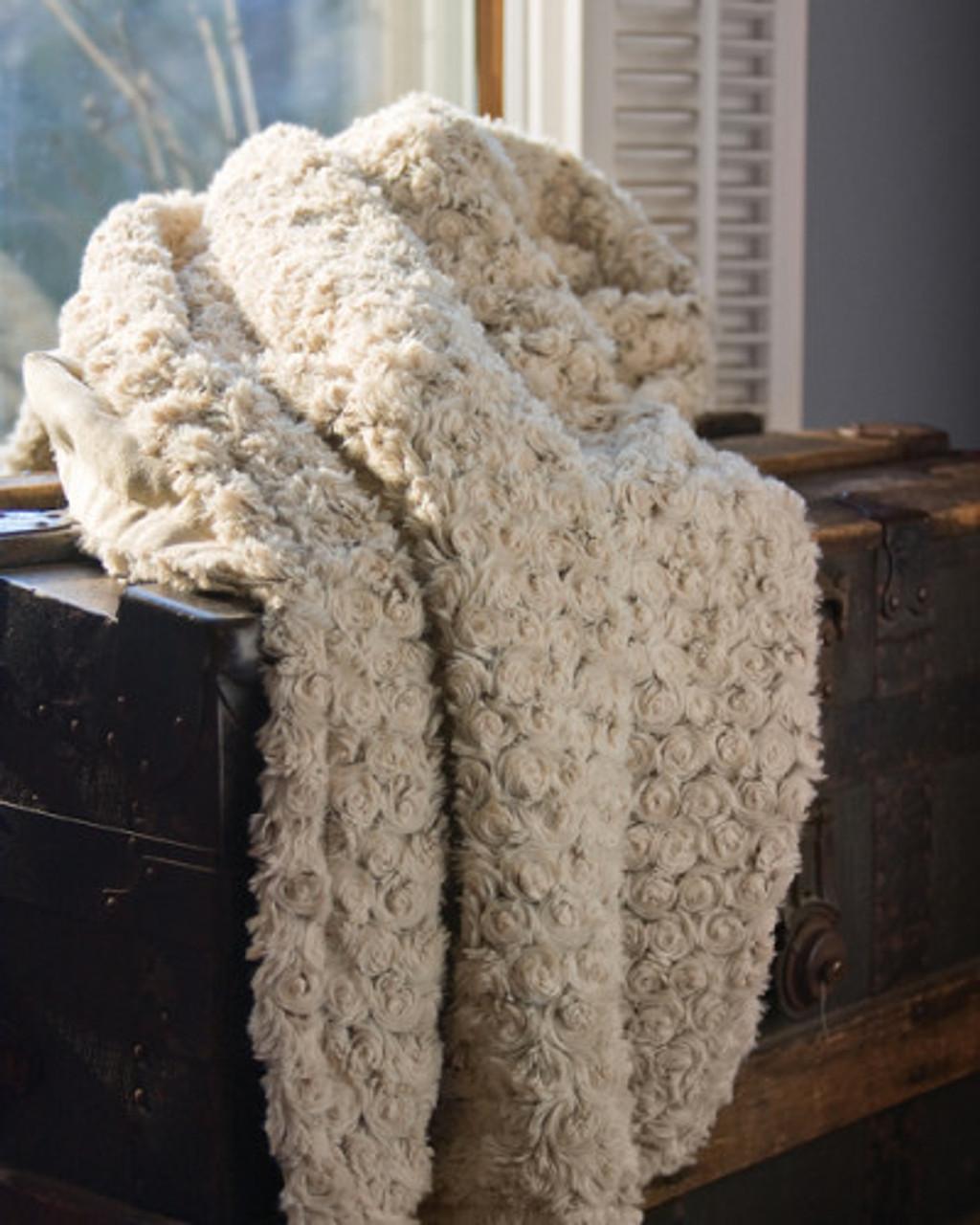 Rose Eco2Cotton Afghan Throw Blanket 50 x 60 USA Made