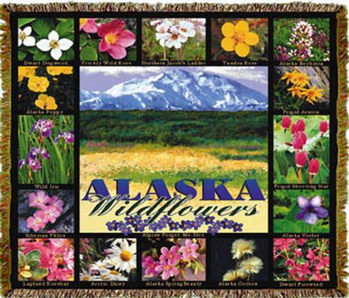 Alaska Wildflowers Tapestry Throw MS-9899TU4