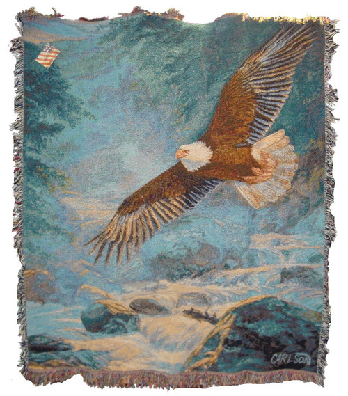 American Majesty Bald Eagle Tapestry Throw Blanket