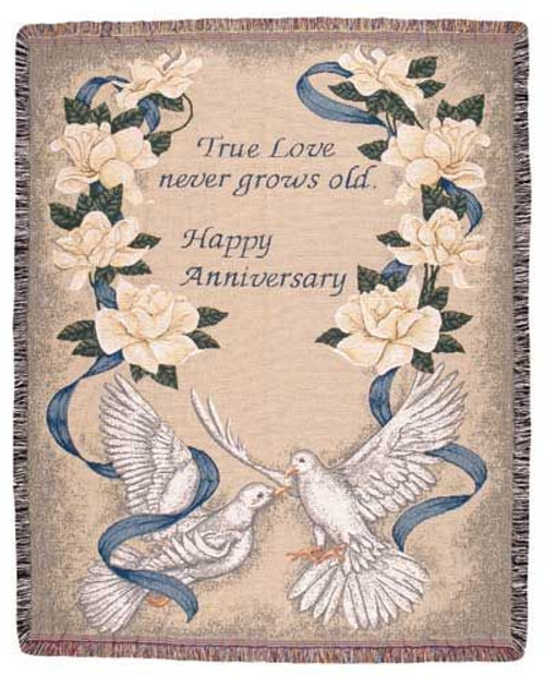 Happy Anniversary Tapestry Throw Blanket