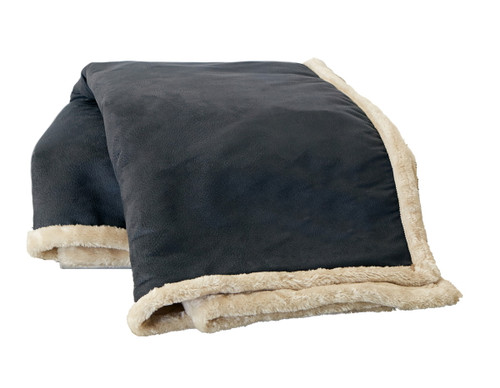 Arctic Faux Leather and Faux Fur Throw
