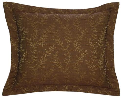 Autumn Leaf Marisol Fabric Eurosham  - Pillow NOT Included