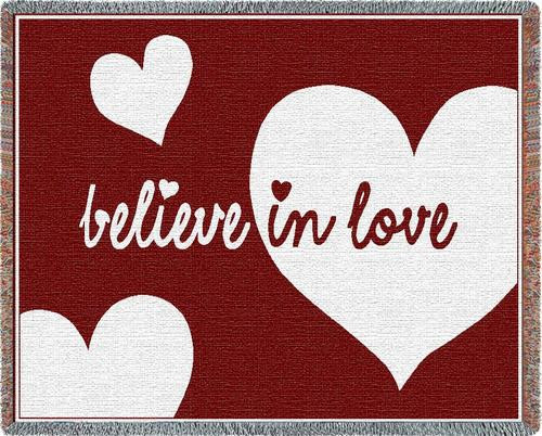 Believe In Love Woven Throw