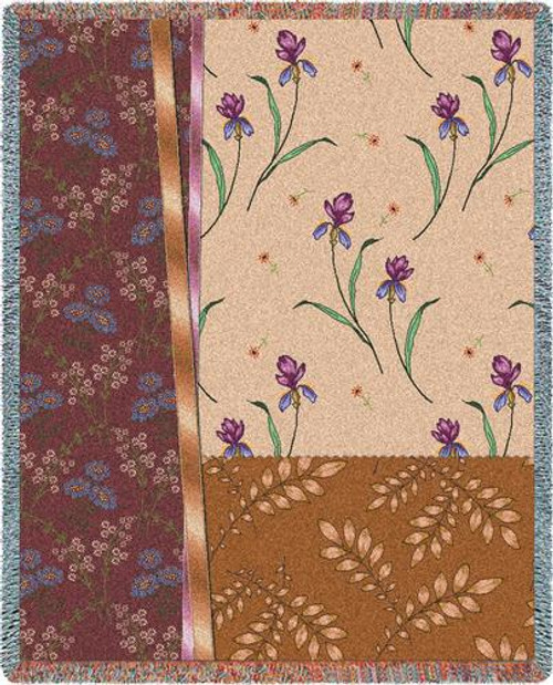 Botanical Swatches Cafe Tapestry Throw
