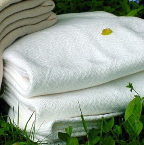 Sahara Full White Luxury Cotton Bed Blanket