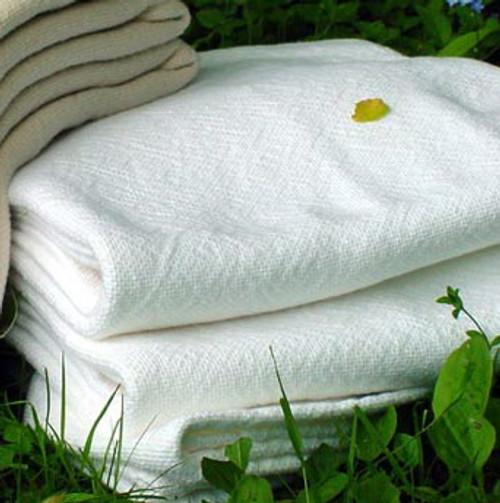 Sahara White Cotton Luxury Blanket Twin