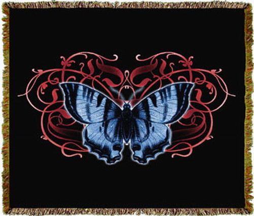 Single Butterfly Tapestry Throw