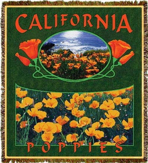 California Poppies Tapestry Throw MS-9698TU4