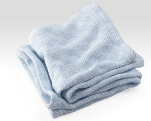 Checkmate Cotton Baby Blanket Blue