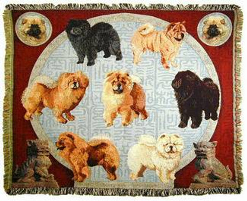 Chow Chow Tapestry Throw MS-7023TU4