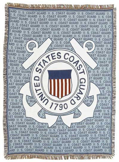 Coast Guard Tapestry Throw Blanket