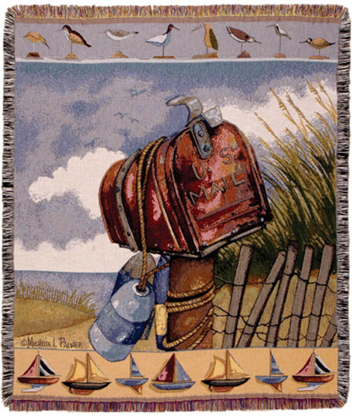Coastal Mail Tapestry Throw Blanket