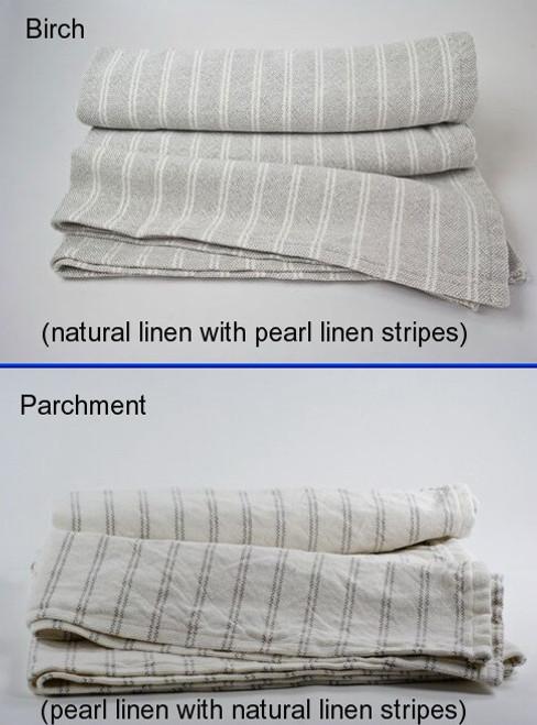 Pinstripe 50% Cotton 50% Linen Blanket Queen