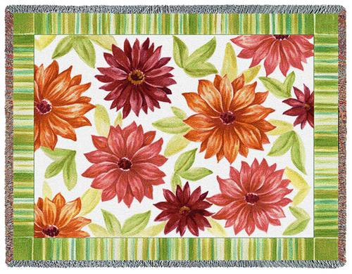 Dahlias Tapestry Throw