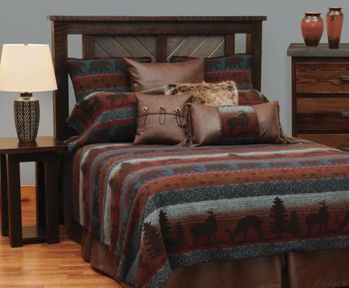 Wooded River Deer Meadow Bedspread