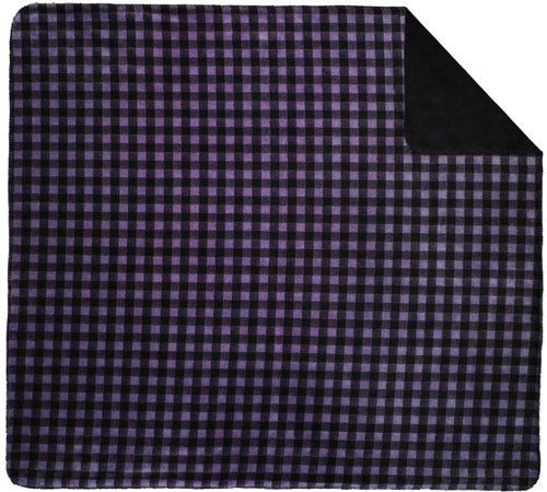 Denali Purple Buffalo Check/Black Blanket