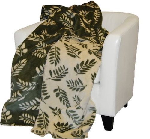Sage Fern/Peal Fern #316 50x60 Inch Throw Blanket