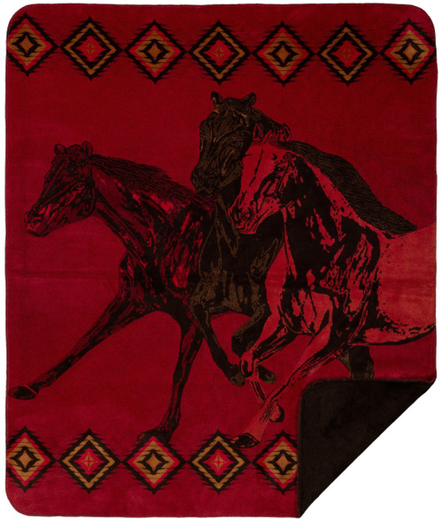 Denali Wild Horses Blanket